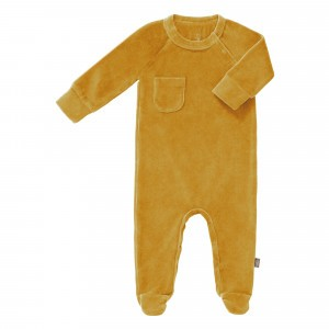Fresk Pyjama met voetjes Velours Mimosa