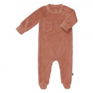 Fresk Pyjama met voetjes Velours Ash Rose