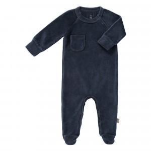 Fresk Pyjama met voetjes Velours Indigo