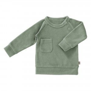 Fresk Sweater Velours Forest Green