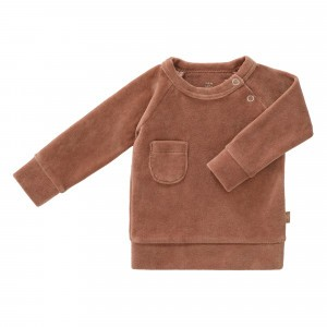 Fresk Sweater Velours Tawny Brown