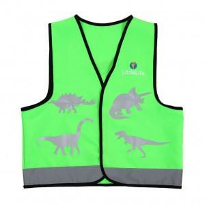 Littlelife Reflecterend veiligheidsvestje Groen Dinosaurus