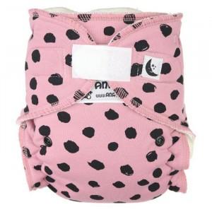Anavy Nachtluier XL met velcro Black Dots Pink (6-18 kg)