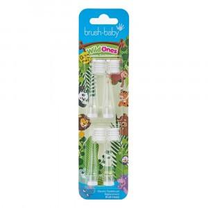 Brush Baby Wild Ones Tandenborstelkopjes Refill 0-10 jaar (4-pack)
