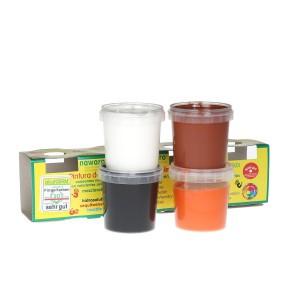 Ökonorm Vingerverf 4 kleuren: oranje, bruin, wit, zwart (4x150ml)