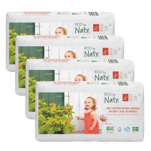 Naty Eco Wegwerpluiers Maat 4+ (4 pakken) Voordeelpakket