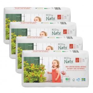 Naty Eco Wegwerpluiers Maat 4+ (42 stuks x 4 pakken) Voordeelpakket