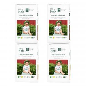 Naty Eco Wegwerpluiers Maat 2 (33 stuks x 4 pakken) Voordeelpakket