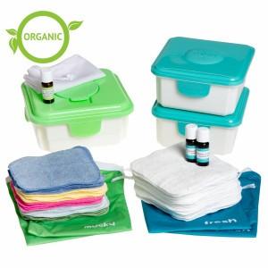 Cheeky Wipes Combi Voordeel Kit met Witte en Gekleurde Organisch Katoenen Doekjes