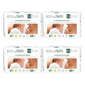 Naty Eco Wegwerpluiers Newborn (25 stuks x 4 pakken) Voordeelpakket