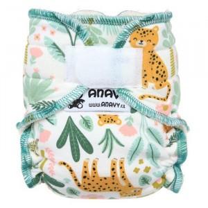Anavy Newborn Luier met Velcro Cheetah (2-6 kg)
