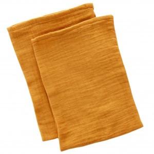 Mundo Melocoton Tetra Washandjes Organic Cotton Cinnamon set van 2