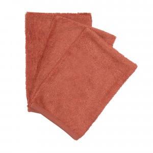 Timboo Set van 3 Washandjes Apricot Blush