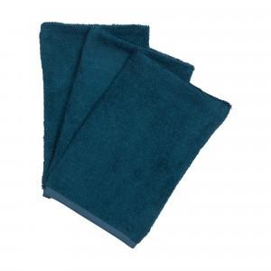 Timboo Set van 3 Washandjes Midnight Blue