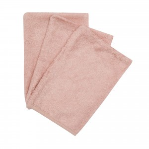 Timboo Set van 3 Washandjes Misty Rose