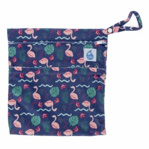 Cheeky Wipes Dubbele Waszak Minky Medium Flamingo Go