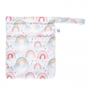 Cheeky Wipes Dubbele Waszak Minky Small Over The Rainbow