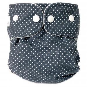 WeeCare Overbroekje Medium Dots Donkerblauw (6-10 kg)