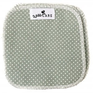 WeeCare Wasbare Doekjes Dots Groen (10 stuks)