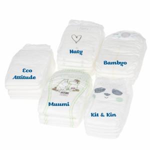 Testpakket Klein Ecologische wegwerpluiers maat 2 (3-7 kg)
