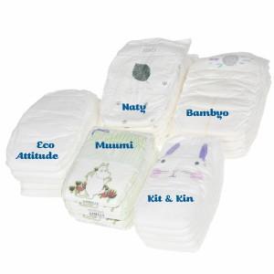 Testpakket Klein Ecologische wegwerpluiers maat 3 (5-8 kg)
