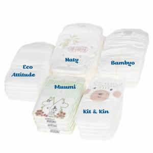 Testpakket Klein Ecologische wegwerpluiers maat 4 (7-14 kg)