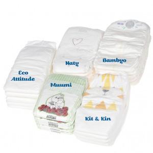 Testpakket Klein Ecologische wegwerpluiers maat 5 (10-16 kg)