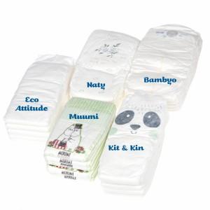 Testpakket Klein Ecologische wegwerpluiers maat 6 (+12 kg)