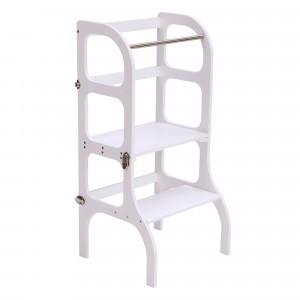 Ette Tete Keukenhulpje 'Helper Tower - table Step'n Sit' White/Silver