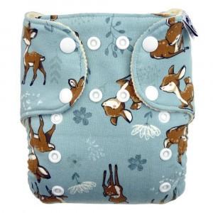 Anavy Wollen Overbroekje One Size met snaps Bambi Blauw (4-15 kg)
