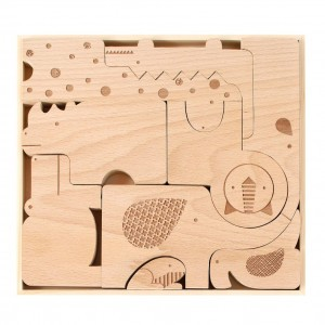 Petit Collage Houten Puzzel Safari