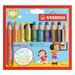 STABILO Woody 3 in 1 Kleurpotloden (10 stuks)