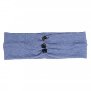 Wooly Organic Haarband Baby Blauw