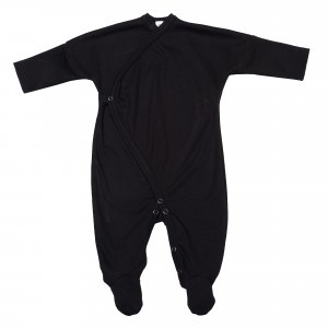 Wooly Organic Kimono Pyjama Zwart