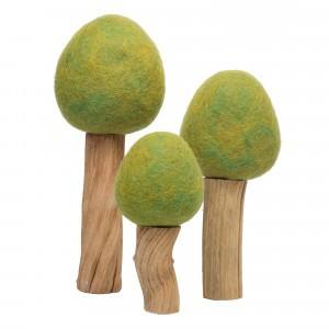Papoose Toys Earth Bomen Zomer Lichtgroen (3 stuks)
