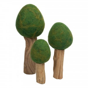 Papoose Toys Earth Bomen Zomer Donker Groen (3 stuks)