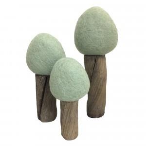 Papoose Toys Earth Bomen Zomer Mintgroen (3 stuks)