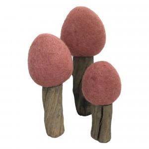 Papoose Toys Earth Bomen Herfst Rood (3 stuks)