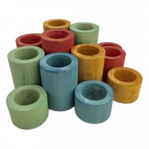 Papoose Toys Earth Cilinder set (16 stuks)