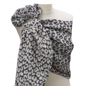 Yaro Ring Sling Pussycat Puffy Black Light-Grey Cashmere