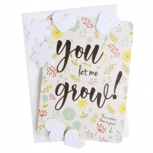"Bloom Your Message Postkaart Confetti ""You Let Me Grow!"""