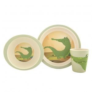Yuunaa Bamboe kinderservies setje Krokodil