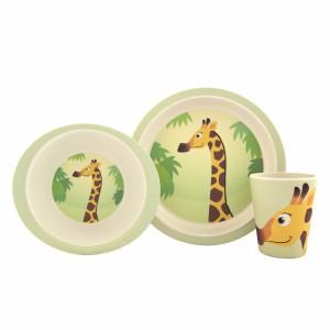Yuunaa Bamboe kinderservies setje Giraf