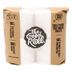 The Good Roll Gerecycleerd Toiletpapier Wrapless (4 rollen) Paperbag