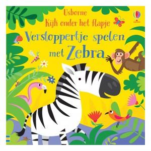 Usborne Kijk onder het flapje - Verstoppertje spelen met Zebra