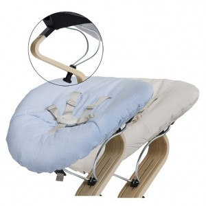 Nomi Baby Basis Black met Matras Pale Blue/Sand