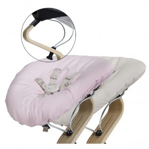 Nomi Baby Basis Black met Matras Pale Pink/Sand