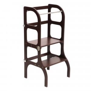 Ette Tete Keukenhulpje 'Helper Tower - table Step'n Sit' Black/Silver