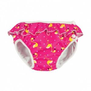 Imse Vimse Zwemluier met Volant, Flamingo Roze