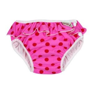 Imse Vimse Zwemluier met Volant, Roze Stippen